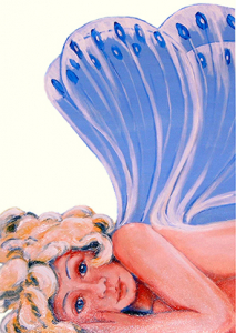 Kunst-Postkarte | Lesezeichen: Elfenkind