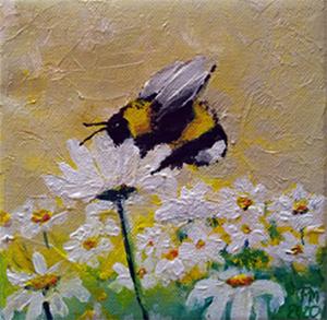 Acrylblock mit Blume des Lebens - Türkis