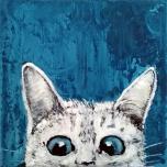 Unikat: Katzenschau *1* auf Leinwand