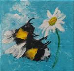Acrylblock mit Blume des Lebens - Violett