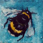 Acrylblock mit Blume des Lebens - Grün
